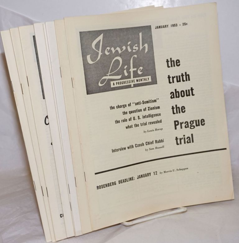 Jewish Life [1951, Jan-Dec, Vol. 7, Nos. 3-7, 11-12, Vol 9, No. 2 (59)]. Paul Novik Moses Miller, eds, Louis Harap.