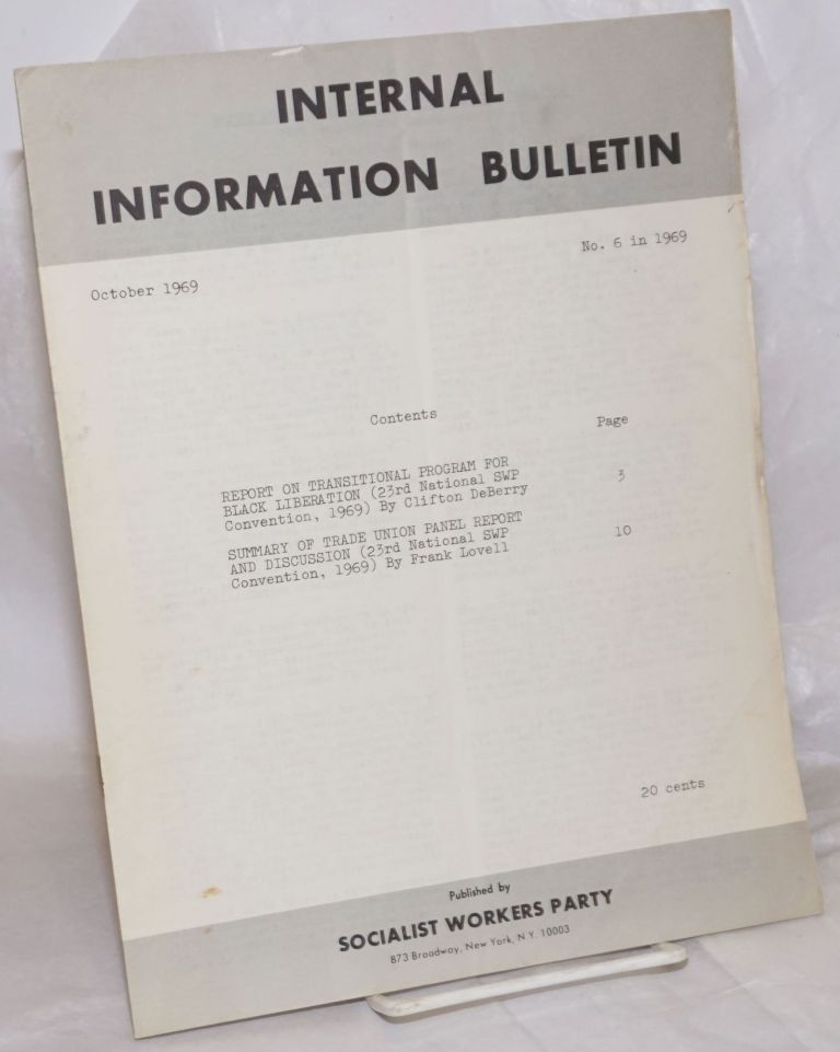Internal Information Bulletin, Oct 1969,