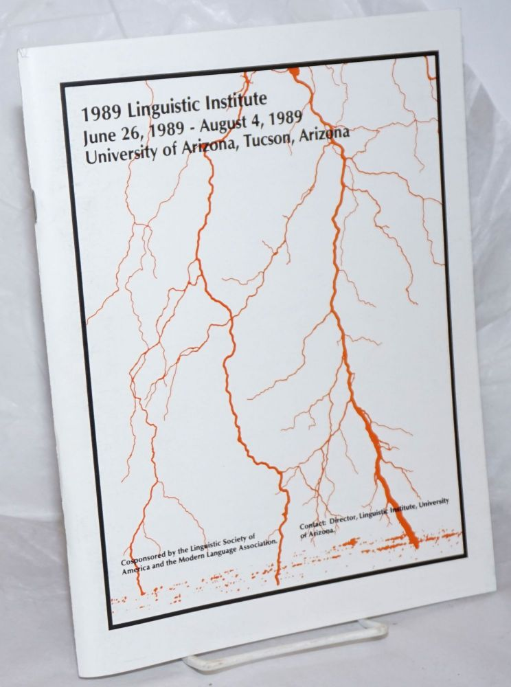 1989 Linguistic Institute: Bridges: cross-linguistic, cross-cultural and cross-disciplinary...