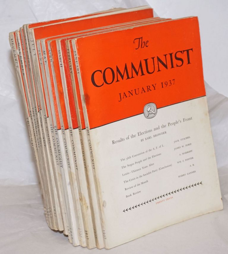 The Communist; a magazine of the theory and practice of Marxism-Leninism. Vol. 16, [12 issues], 1937