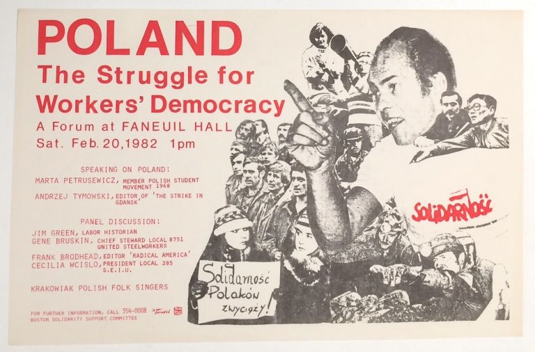Poland: The struggle for workers' democracy. A forum at Faneuil Hall [poster]