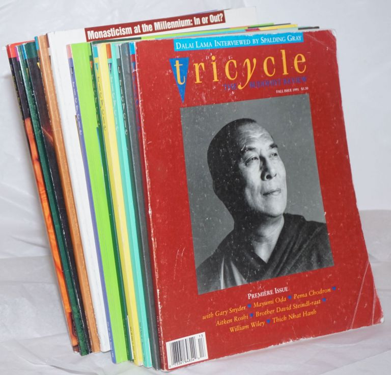 Tricycle, The Buddhist Review [short broken run:] V.I n.1, V.II n.1, V.II n.4, V.III n.1, V.III n.2, V.IV n.3, V.V n.2, V.V n.3, V.VIII n.2, V.VIII n.3, V.IX n.1 [the lot of eleven unduplicated issues]