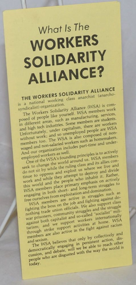What is The Workers Solidarity Alliance?
