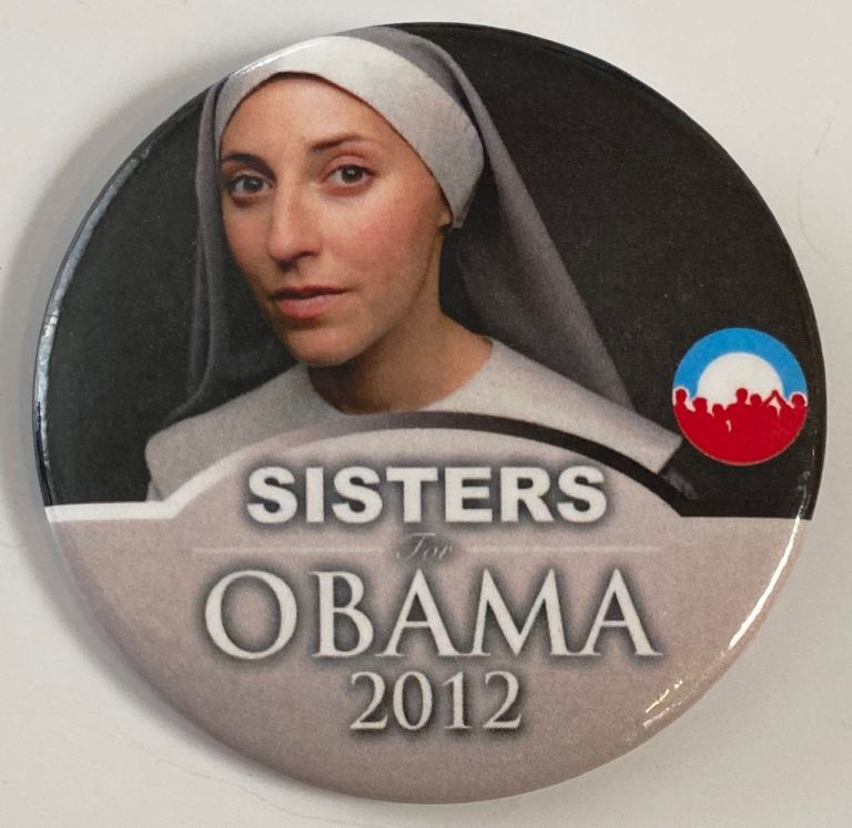 Sisters for Obama 2012 [pinback button]