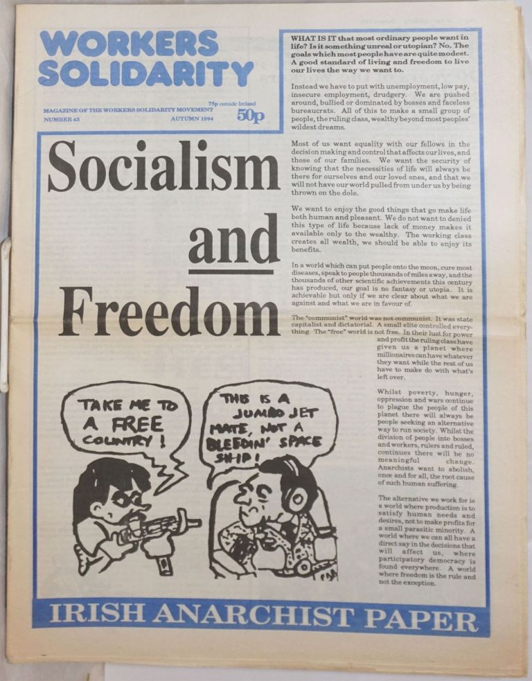 Workers Solidarity [1994, Autumn, No. 43] Magazine of the Workers Solidarity Movement [of Ireland]