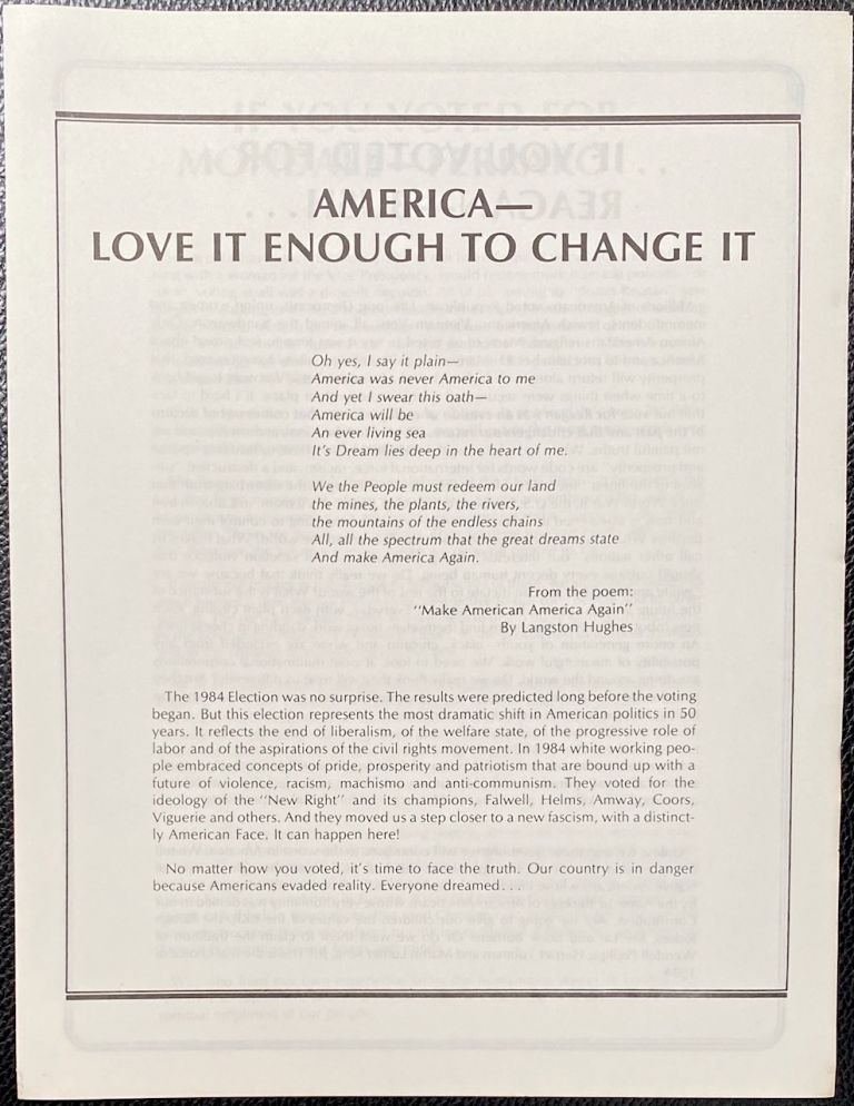 America -Love it enough to change it