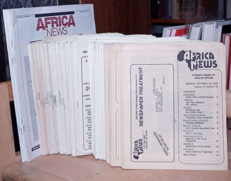 Africa News 1979-1991 A Weekly Digest of African Affairs