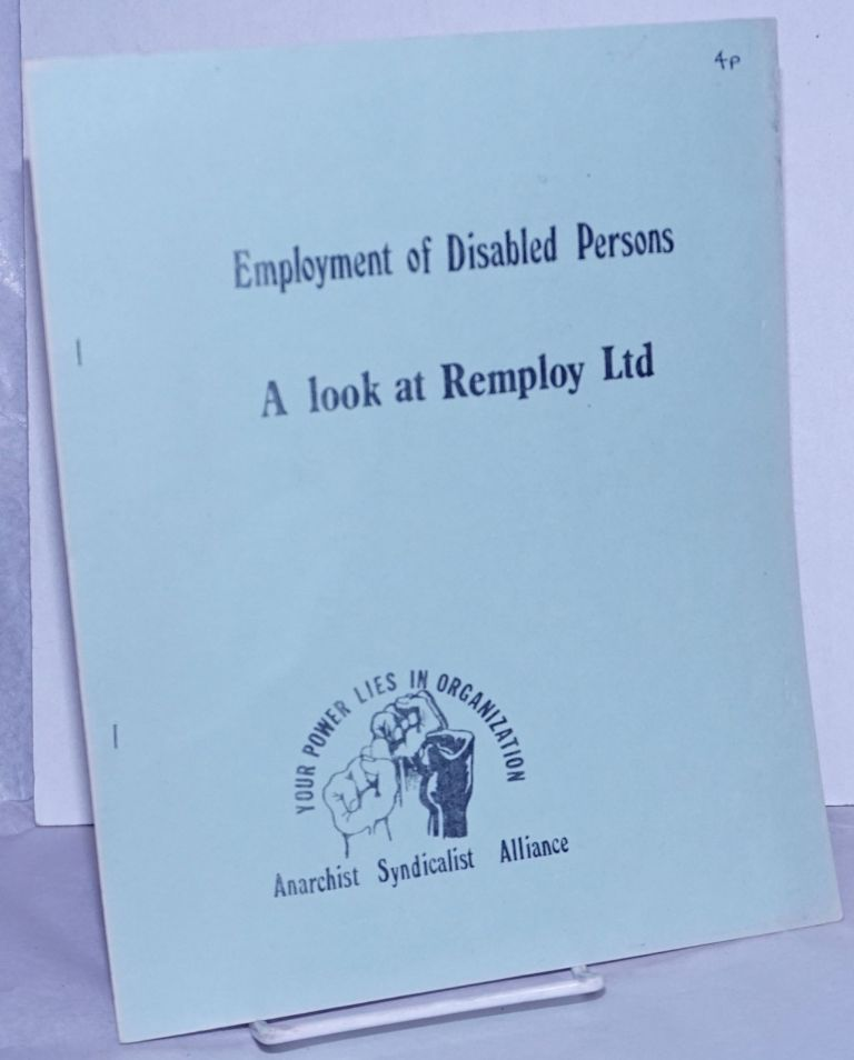 Employment of Disabled Persons: A look at Remploy Ltd.
