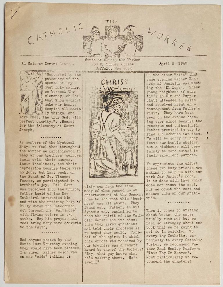 The Catholic Worker. April 9, 1950
