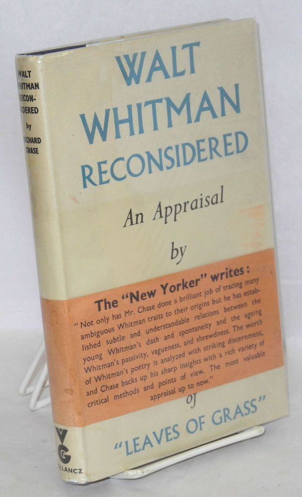 Walt Whitman reconsidered. Richard V. Chase.