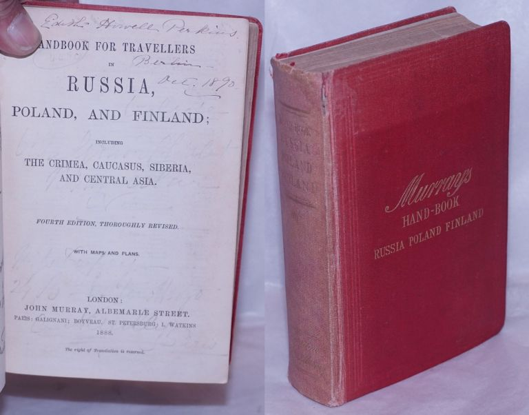 [Murray's] Handbook for Travellers in Russia, Poland, and Finland; including The Crimea, Caucasus, Siberia, and Central Asia. Fourth Edition, Thoroughly Revised. With Maps and Plans. T. Mitchell.