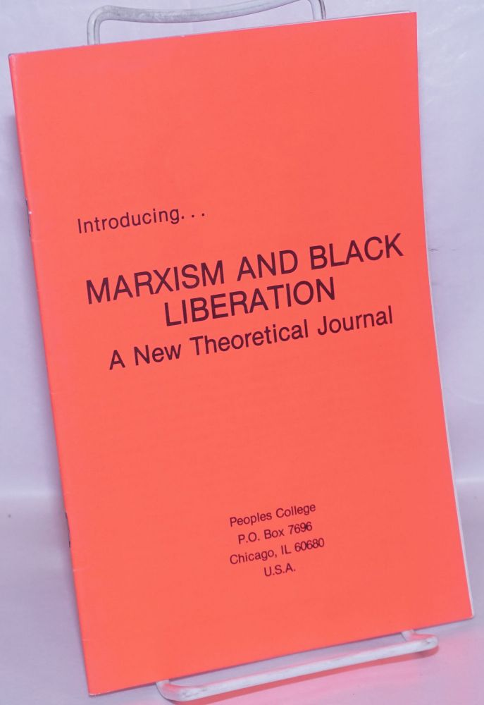 Introducing... Marxism and Black liberation, a new theoretical journal