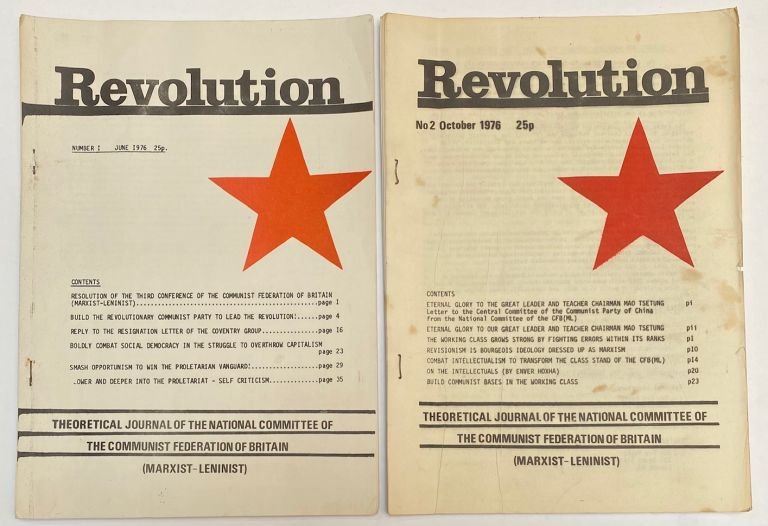Revolution: theoretical journal of the National Committee of the Communist Federation of Britain (Marxist-Leninist) [Numbers 1 and 2]
