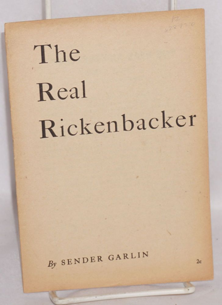 The real Rickenbacker. Sender Garlin.