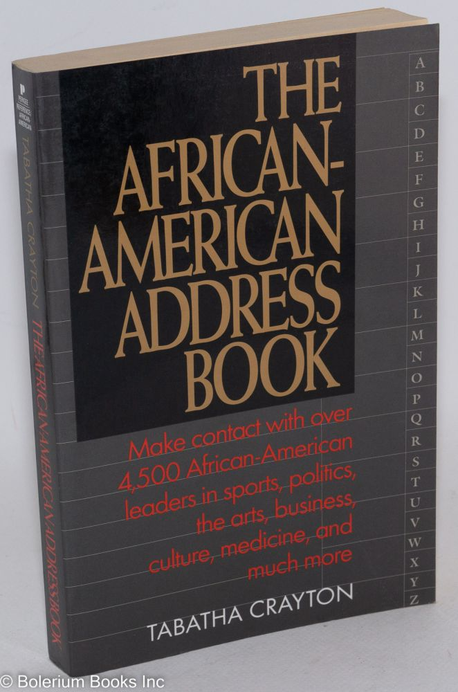 The African-American address book. Tabatha Crayton.