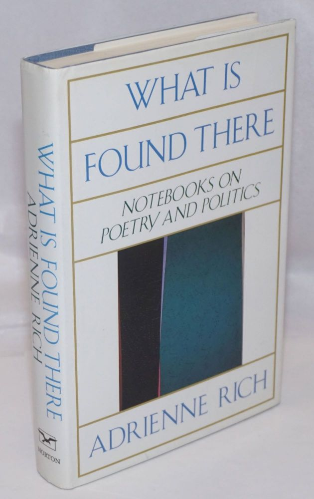 What is Found There: notebooks on poetry and politics. Adrienne Rich.