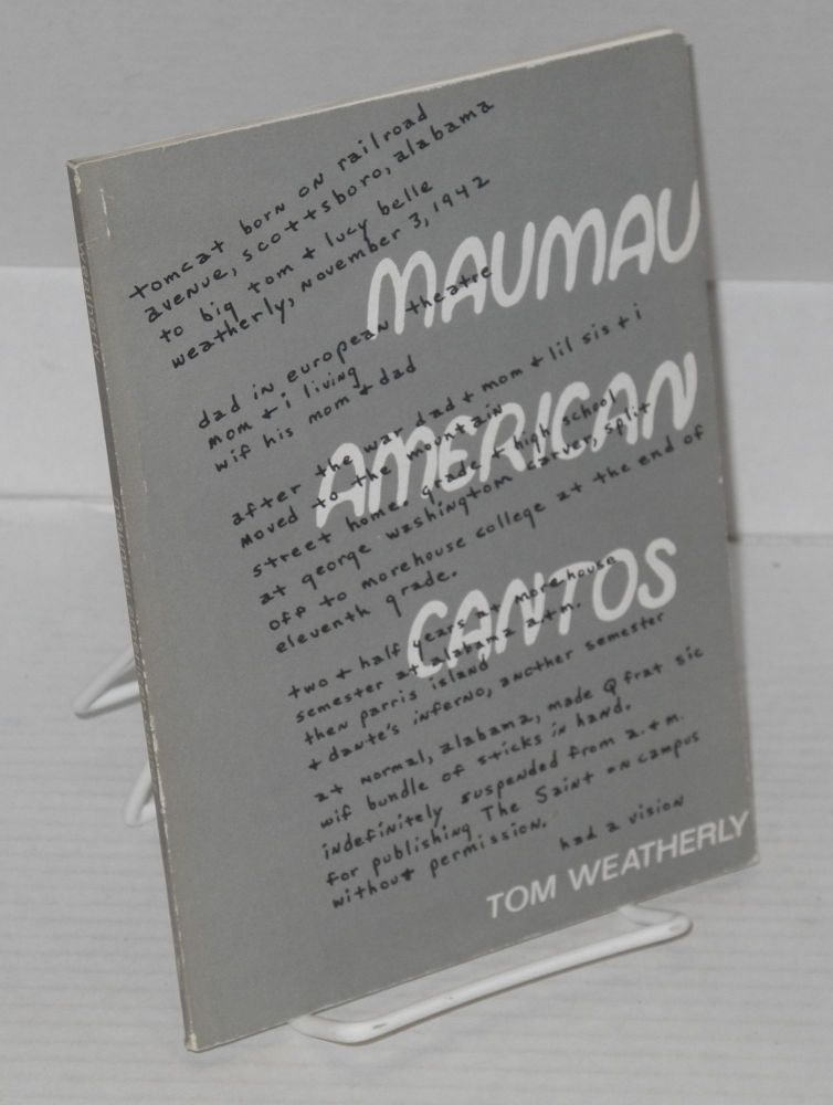 Maumau American cantos. Tom Weatherly.