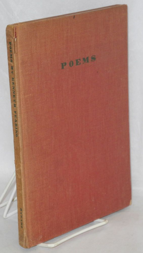 Poems. Introduction by Edward Dahlberg. Kenneth Fearing.