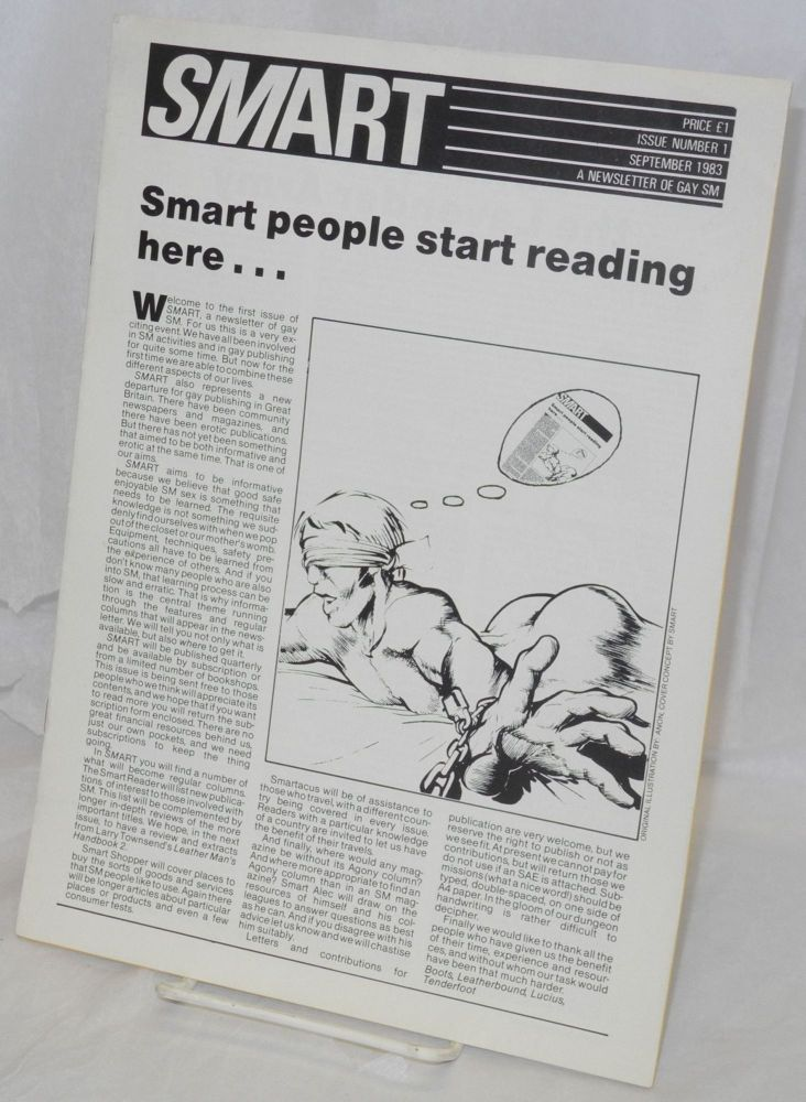 Smart: a newsletter of gay SM, issue number 1, September 1983