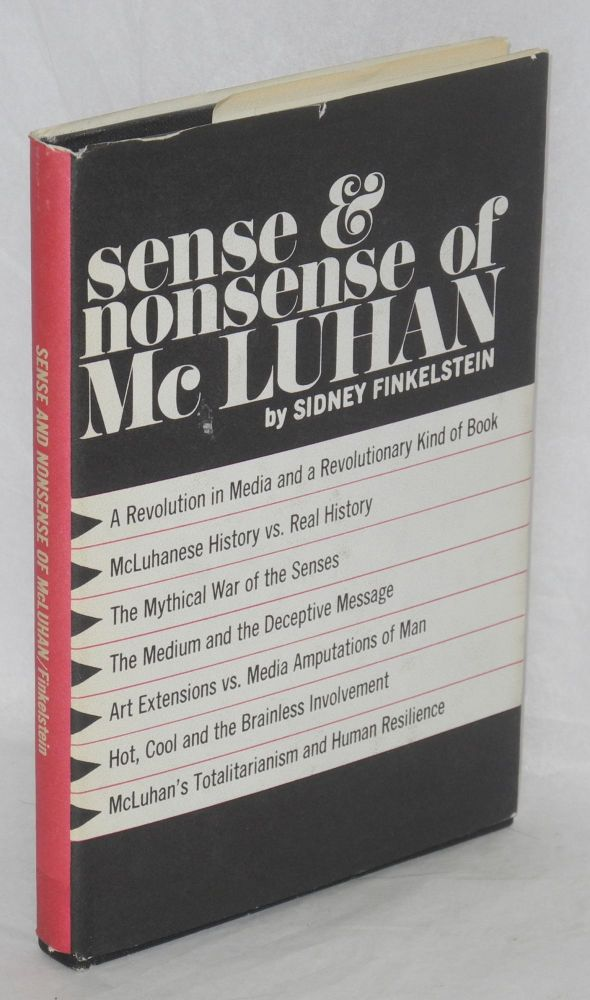 Sense and nonsense of McLuhan. Sidney Finkelstein.