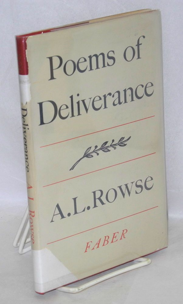Poems of deliverance. A. L. Rowse.