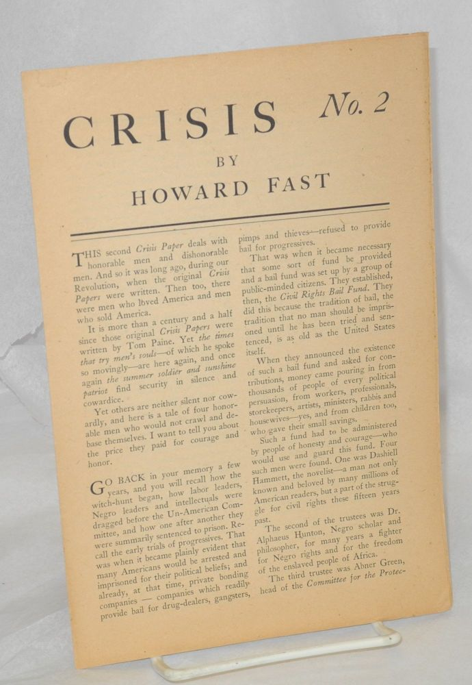 Crisis no. 2. Howard Fast.
