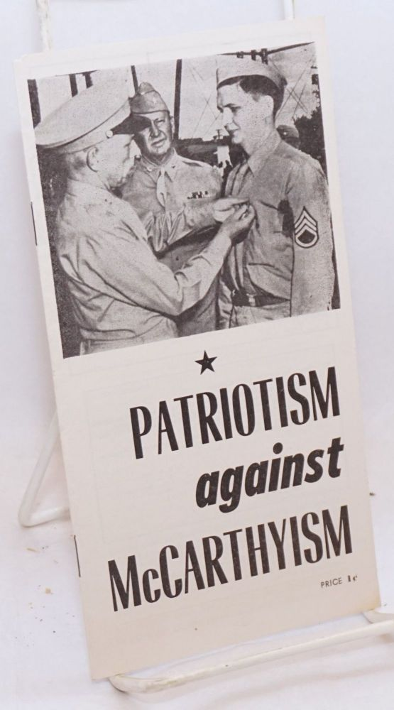 Patriotism against McCarthyism [cover title]. Robert Thompson.