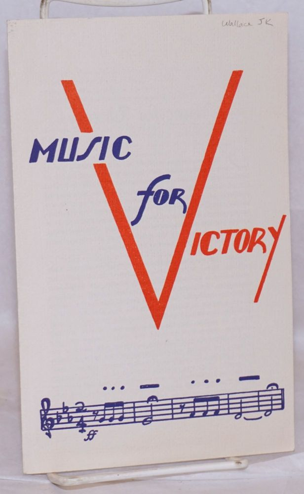 Music for victory. J. K. Wallace.