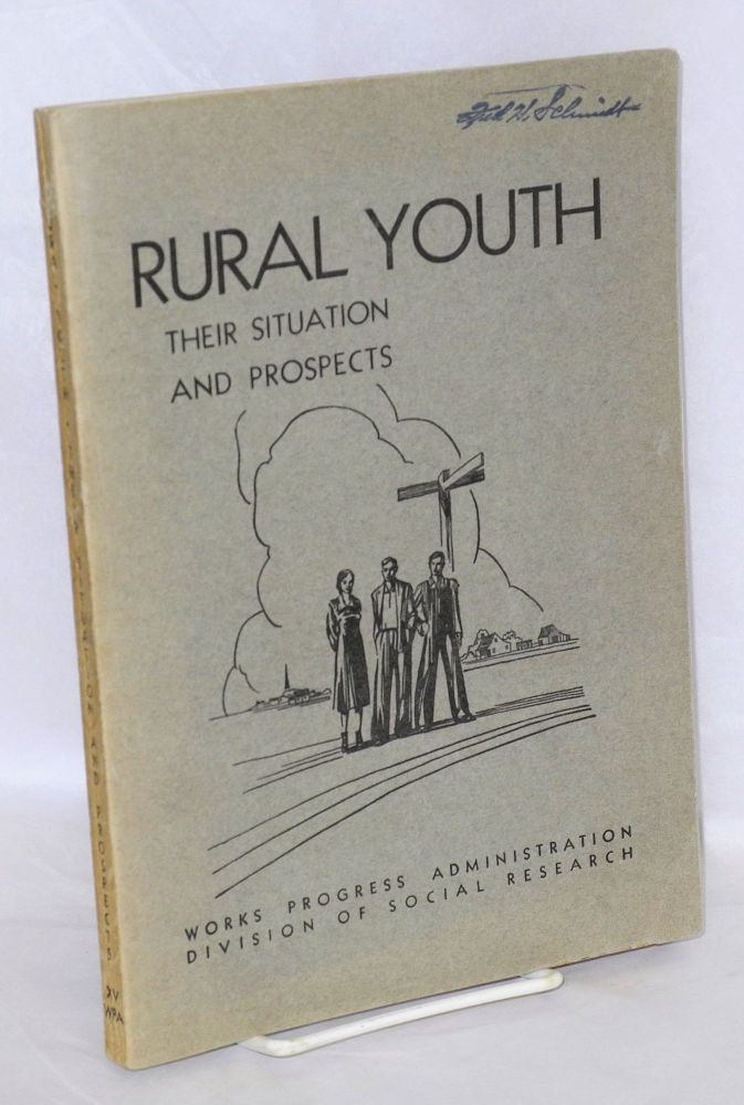 Rural youth: their situation and prospects. Bruce L. Melvin, Elna N. Smith.