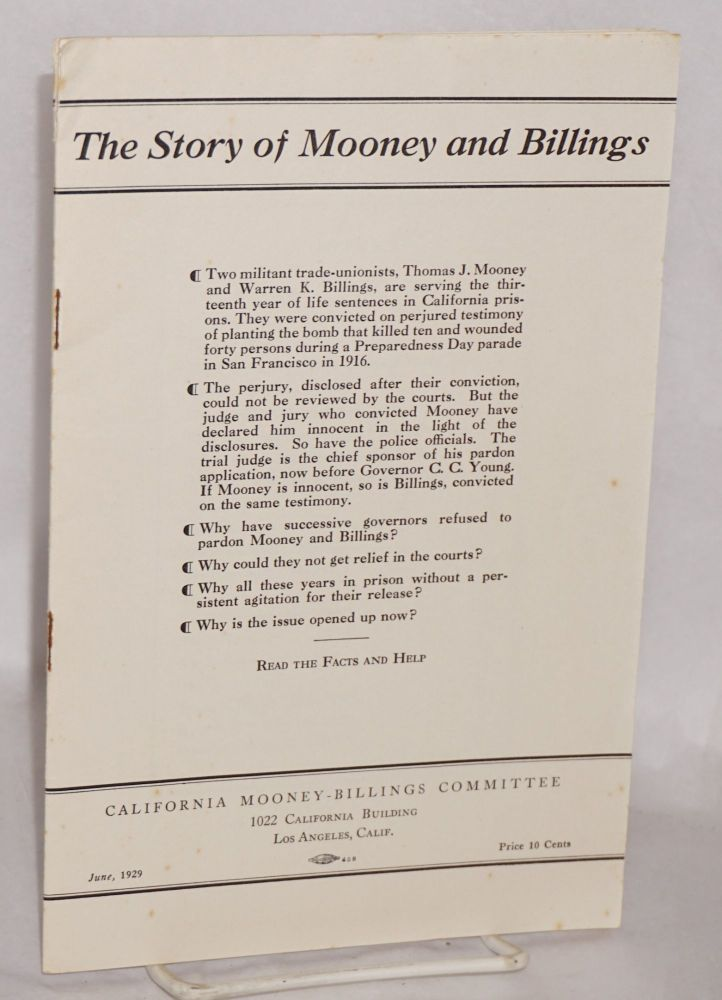 The story of Mooney and Billings. National Mooney-Billings Committee.