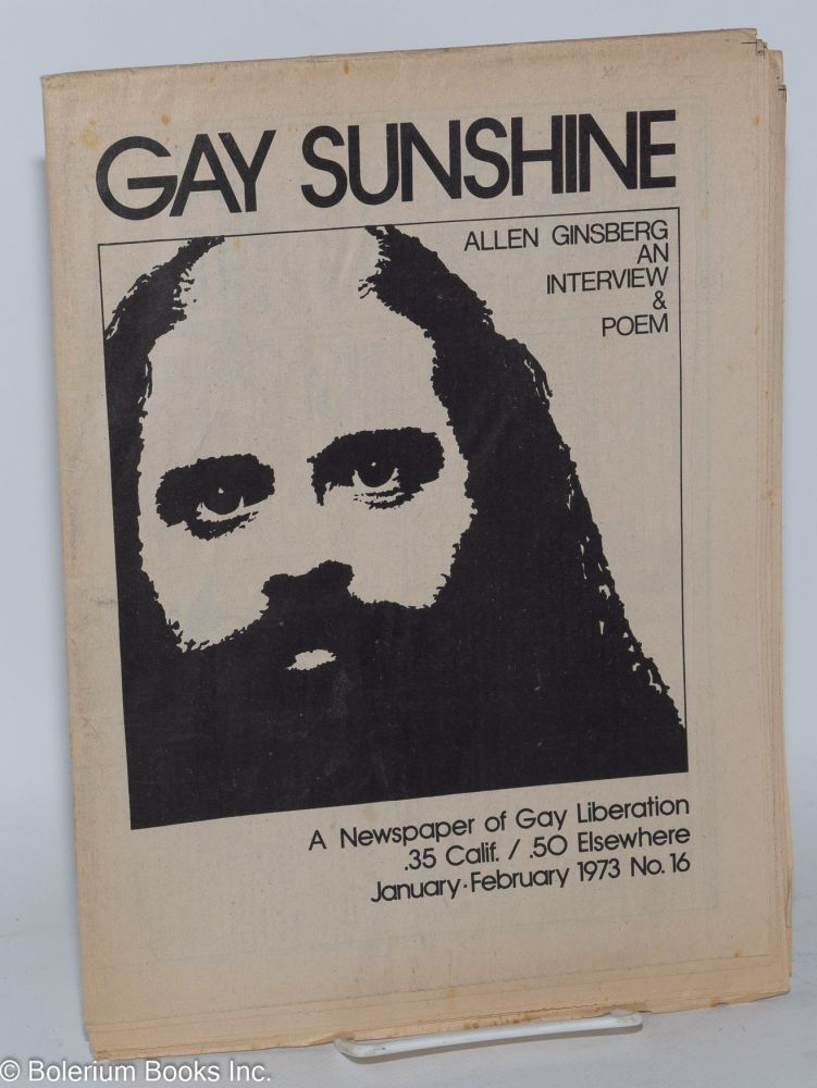 Gay sunshine; a newspaper of gay liberation, #16 January - February 1973