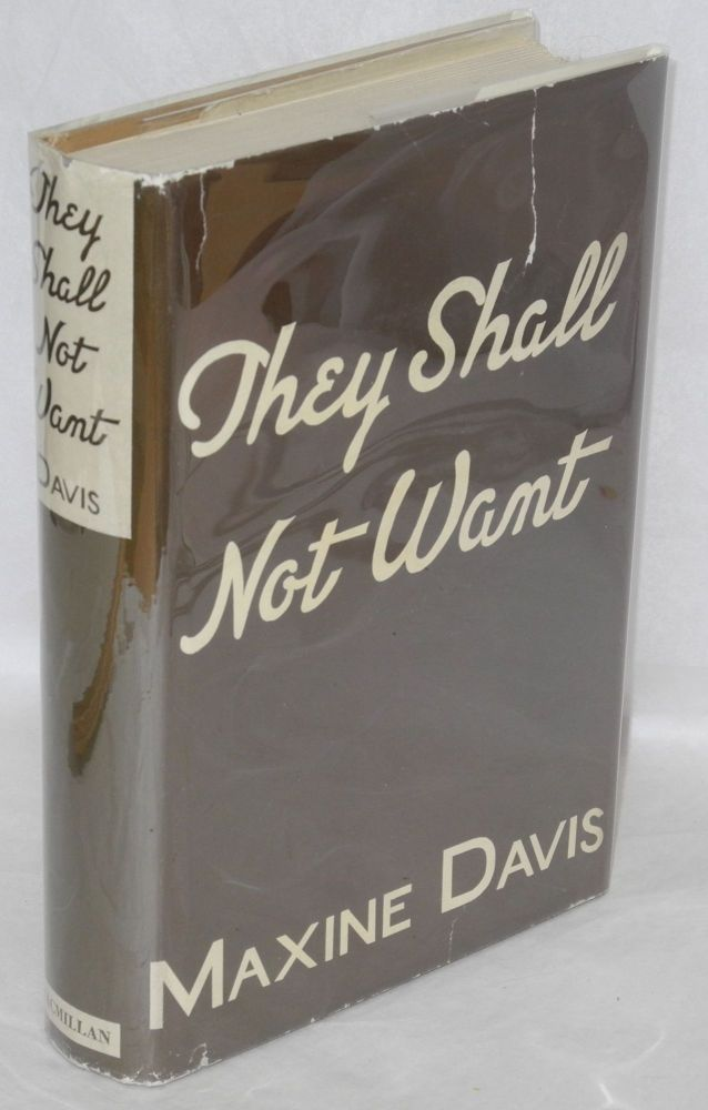 They shall not want. Maxine Davis.