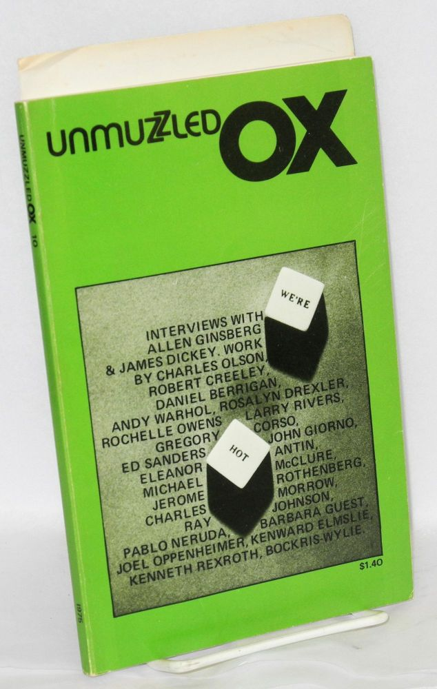 Unmuzzled ox; vol. III, no. 2, 1975. Michael Andre, , Allen Ginsberg, Larry Rivers, Andy Warhol, Gerard Malanga, Gregory Corso.
