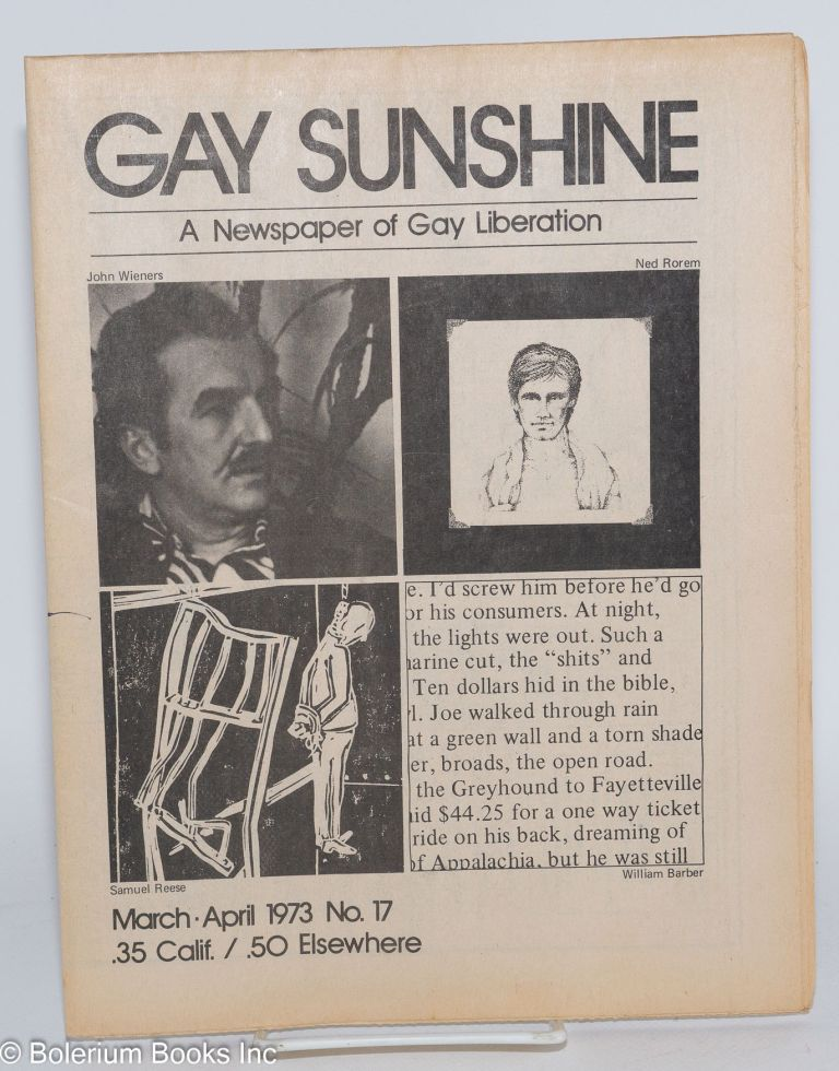 Gay sunshine; a newspaper of gay liberation, #17 March-April 1973