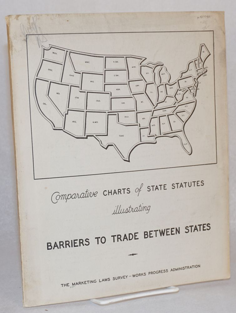 Comparative charts of state statutes illustrating barriers to trade between states. preparers Marketing Laws Survey staff.