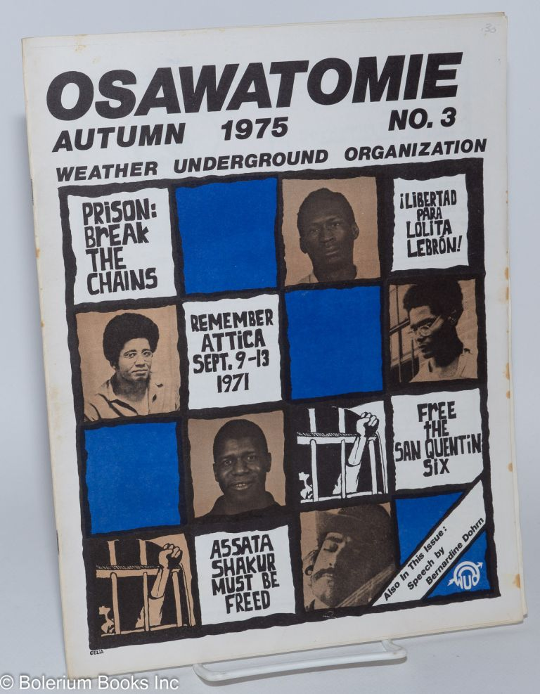 Osawatomie, vol. 1, no. 3, Autumn 1975. Weather Underground Organization.