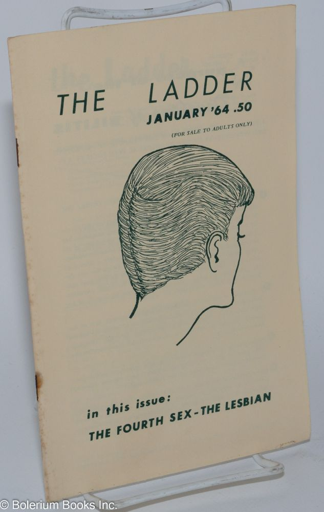 The ladder: vol. 8, #4, January 1964. Barbara Gittings, , Gene Damon, Del Martin Barbara Grier.
