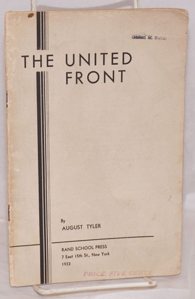 The united front. August Tyler.