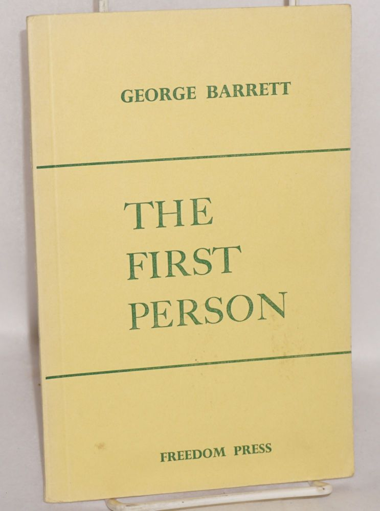 The first person. George Barrett.