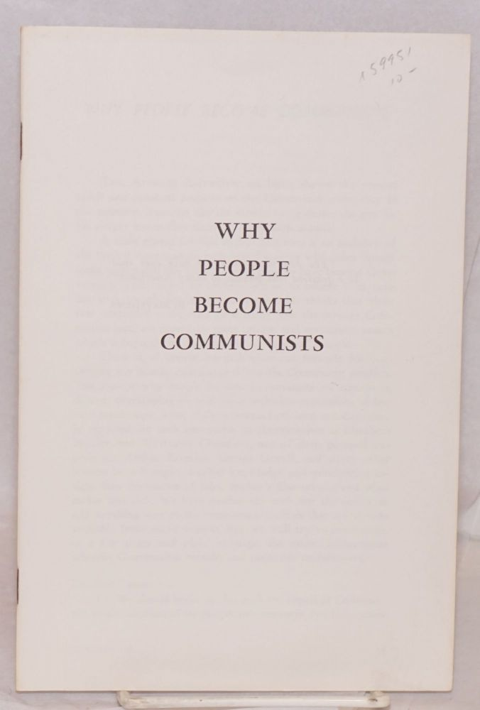 Why people become communists