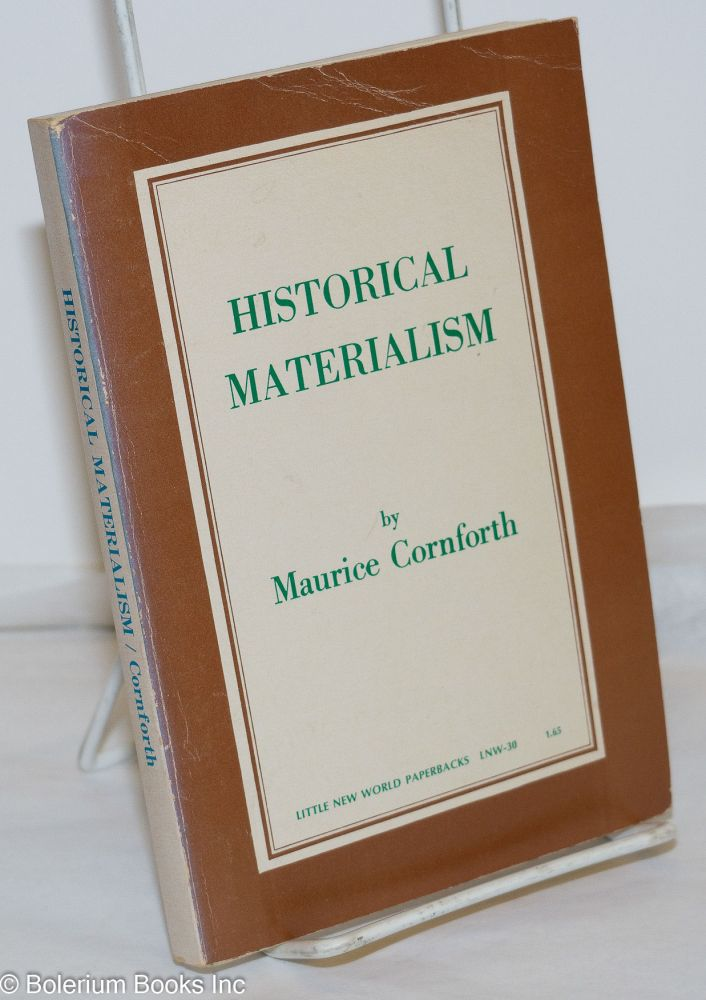 Historical materialism. Second (revised) edition. Maurice Cornforth.