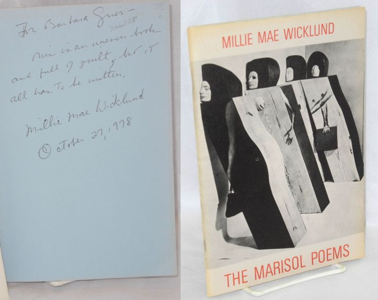 The Marisol poems. Millie Mae Wicklund, , Suzanne Zavrian, Geoffrey Clements.