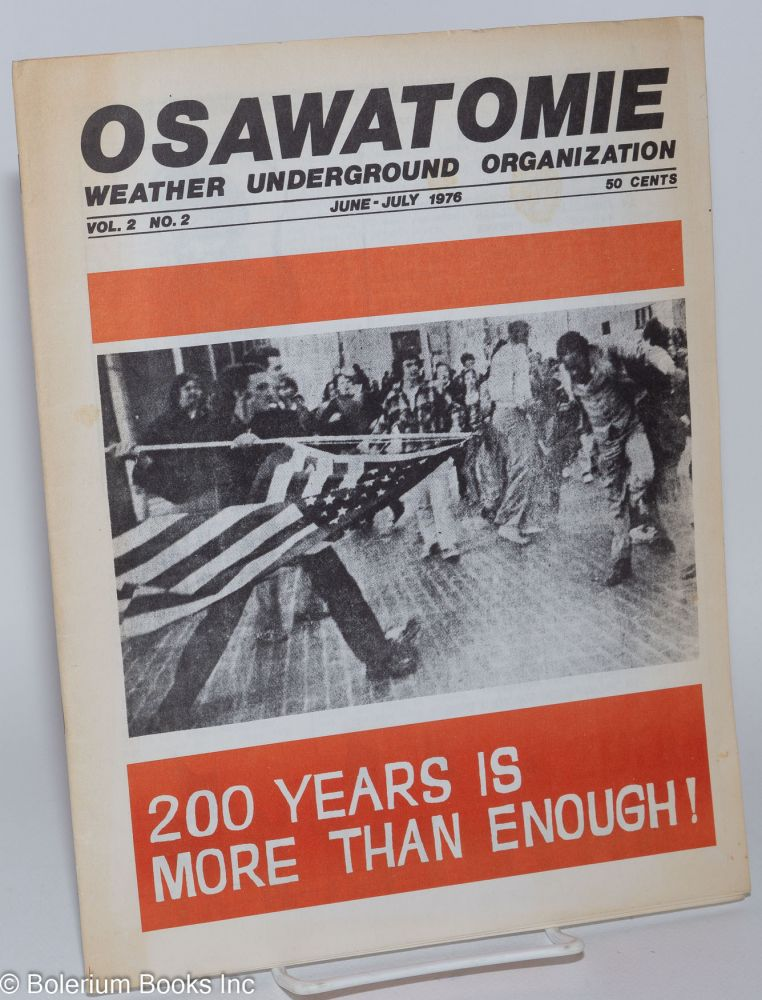 Osawatomie, vol. 2, no. 2, June-July 1976. Weather Underground Organization.