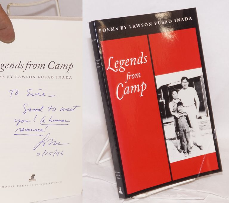 Legends from camp; poems. Lawson Fusao Inada.
