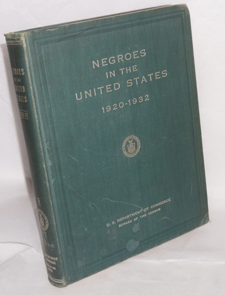 Negroes in the United States; 1920-1932, prepared under the supervision of Z. R. Pettet. Charles E. Hall.