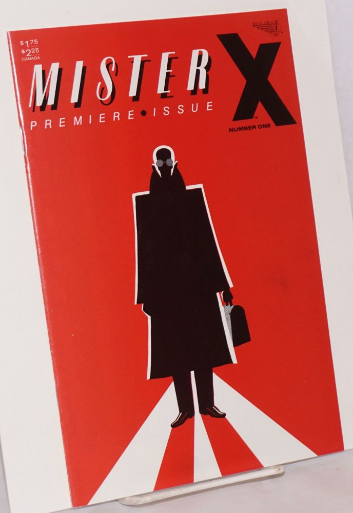 Mr. X; created and designed by Dean Motter, colored by Klaus Schönfeld, cover illustration and lettering by Paul Rivoche, vol. 1, no. 2. Jaime Hernandez, Gilbert Hernandez, Mario Hernandez.
