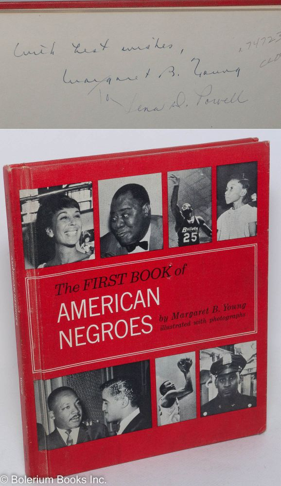 The first book of American Negroes; illustrated with photographs. Margaret B. Young.