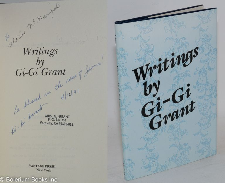 ... Writings. Gi-Gi Grant.
