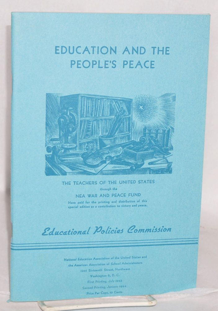 Education and the people's peace. National Education Association. Educational Policies Commission.