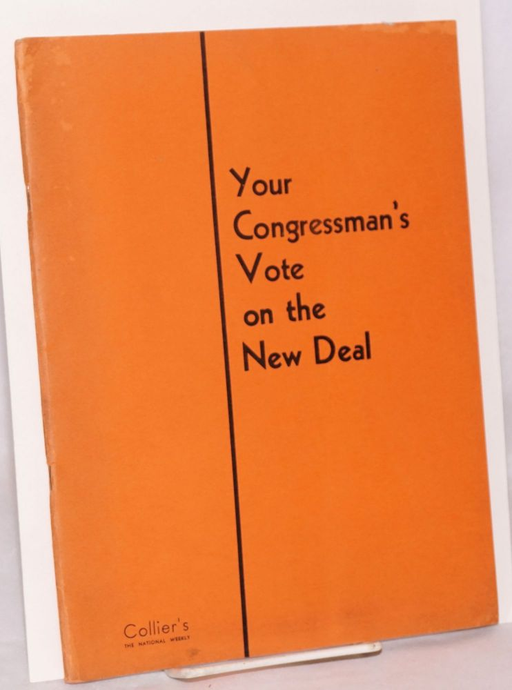 Your congressman's vote on the new deal; compiled for Collier's by Congressional Intelligence, Inc.